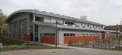 Foto: Die neue Sporthalle des Goethe-Gymnasiums in Germersheim.